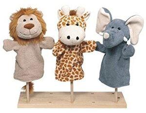 Goki - Marioneta mano animales salvajes (1 modelo a elegir)