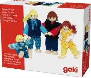 Goki - Familia Joven 4 muñecos articulados