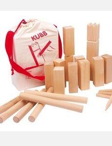 Goki - Kubb juego vikingo, mediano, madera, en bolsa algodón