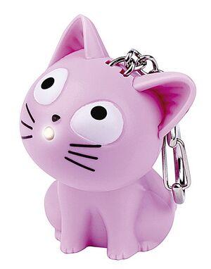 Llavero Gatitos rosa, gris y negro con luz y sonido