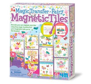 4M - Magic Transfer Fairy Magnetic Tiles Arte con pintura