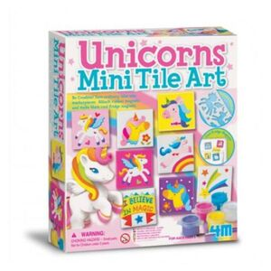 4M - Set arte azulejos unicornio