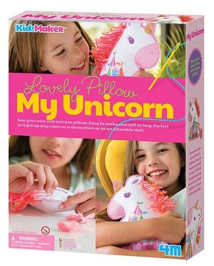 4M - Set cojín unicornio