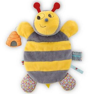 Marioneta abeja 25cm Doudou