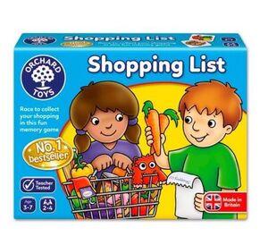 Orchard Juego Shopping list / lista de la compra