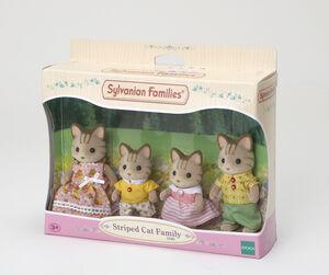 Sylvanian - Familia Gatos Rayas
