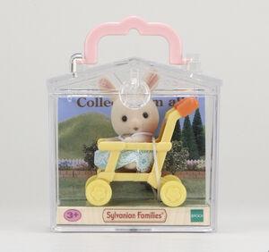 Sylvanian - Bebé para llevar Conejo en cochecito