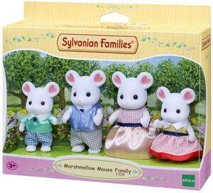 Sylvanian - Familia Ratón Marshmallow