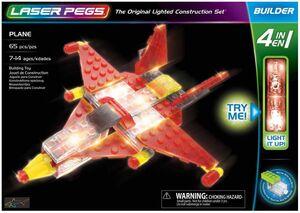 Avion 4 en 1 65 pzas Laser Pegs