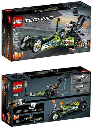Lego Tecnic - Dragster retrofricción (42103)