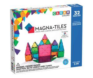 Magna-Tiles Clear Colors 32 pcs