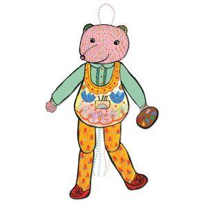 eeBoo - Pull Puppet Oso (títere de cuerda)