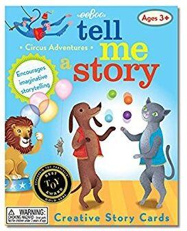 Eeboo-tarjetas historias Aventuras del circo