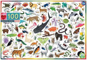 EEBOO - Puzzle Mundo Animal 100 pzas