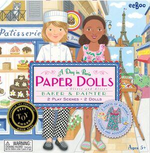 eeboo - Paper dolls pastelera y pintora (muñecas de papel)
