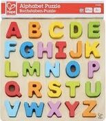 Hape - Puzzle infantil encajable Alfabeto Mayúsculas