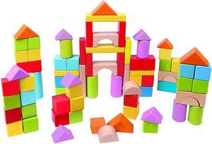 Hape - Bloques puzzle de madera 101 bloques