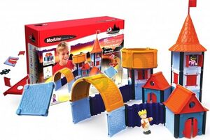 ModularToys Arquitecto de Castillo (85 piezas + 2 figuaras)