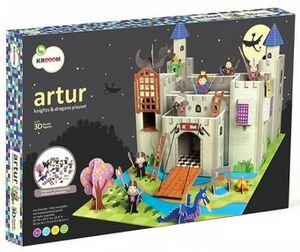 Kroom - Artur - castillo en carton con accesorios y figuras
