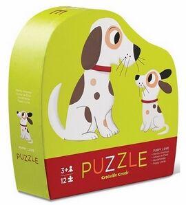 CrocodileCreek - Puzzle 12 p Puppy love perritos