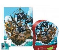 crocodilecreek - Puzzle mini forma Piratas 24 piezas