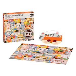 petitcollage - Puzzle 100p Festival Animal con decodificdor