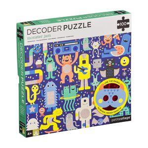 Petitcollage - Puzzle Monster Jam 100p con descifrador