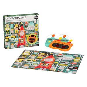 petitcollage - Puzzle 100p Fabrica de Robots con decodificador
