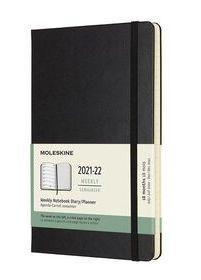 Agenda 2021-2022 Moleskine 18 meses semana vista negro