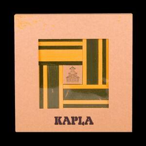 Kapla -Caja 40 tablillas - Amarillo y Verde + libro