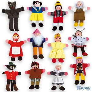 Andreu Toys - Marioneta dedo personajes (1 modelo a elegir entre 12 personajes)