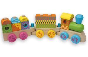Andreu Toys- Tren multicolor de madera