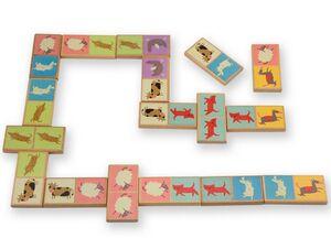 Domino eco animales madera 28 pzas