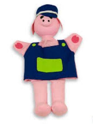 Marioneta de mano - cerdito Pinky