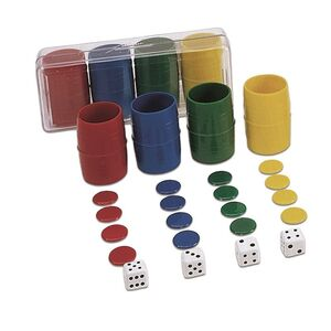 Accesorios Parchís 4 jugadores plástico