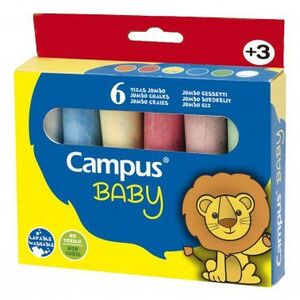 Tizas Campus Jumbo Pack 6 colores