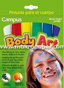 Body art. Pinturas para el cuerpo, 6 colores. Makro Paper