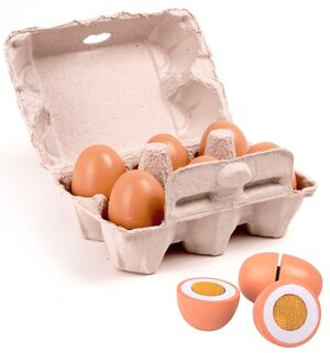 Set de 6 huevos de juguete