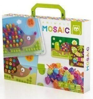 Mosaico de animales (juego de pinchos o pegs)