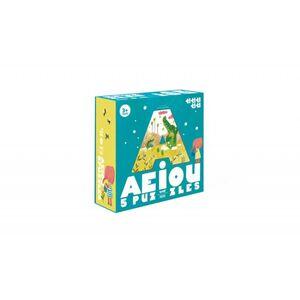 Londji - AEIOU puzzle 5 puzzles reversible, 3, 4, 5, 6, 7pcs