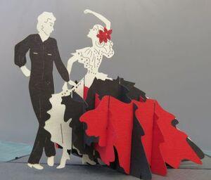 Kiriarte - Tarjeta pop-up Flamenco