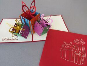 Kiriarte - Tarjeta pop-up cajas de regalos