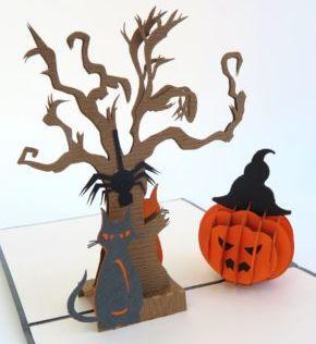 Kiriarte - Trajeta pop-up Halloween