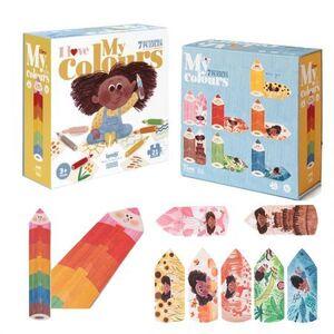 Londji - I love my colors 7 puzzles 21 pcs reversible