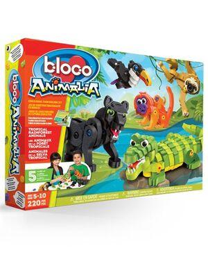 bloco - Animales del bosque tropical 220 pcs