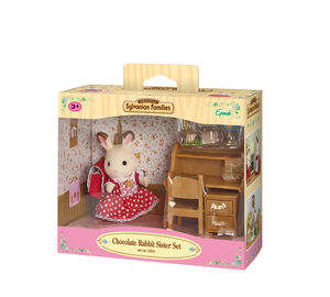 Sylvanian - Set Hermana Coneja Chocolate (escritorio)