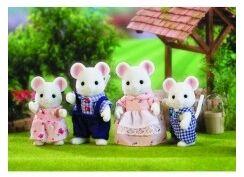 Sylvanian - Familia de 4 Ratones blancos