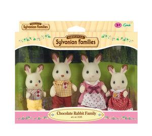 Sylvanian - Familia 4 conejos chocolate