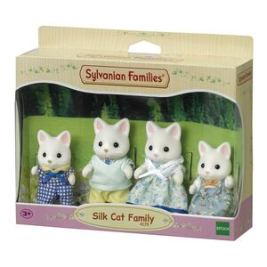 Sylvanian - Familia 4 gatos seda