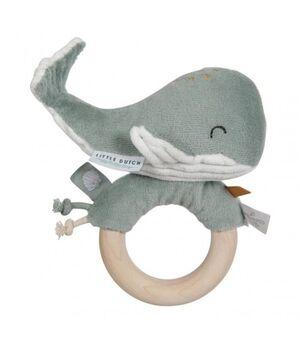 Little Dutch - Sonajero anillo Ballena ocean menta